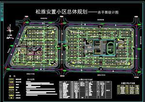 超多小区规划设计方案cad总平面图图片
