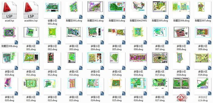 超多小区规划设计方案cad总平面图1