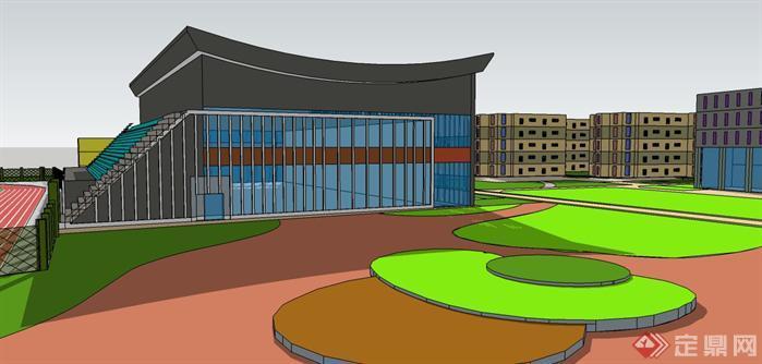 校园景观设计效果图2