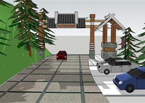 某景区入口大门设计模型