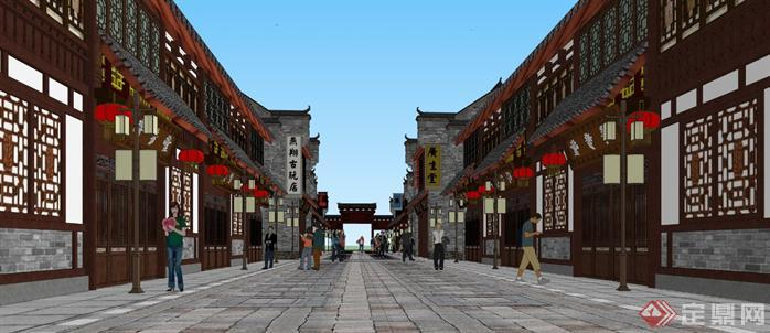 某商业古街建筑规划设计方案su模型2