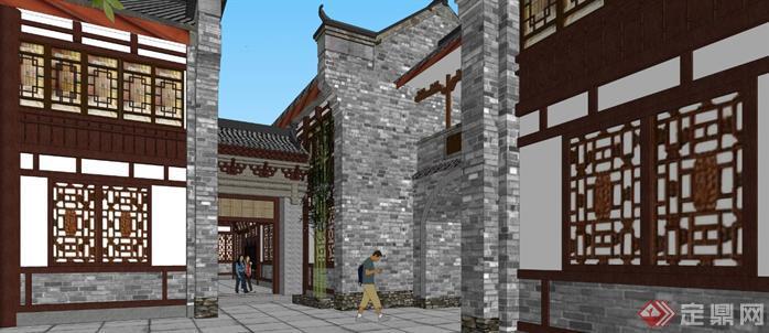 某商业古街建筑规划设计方案su模型6