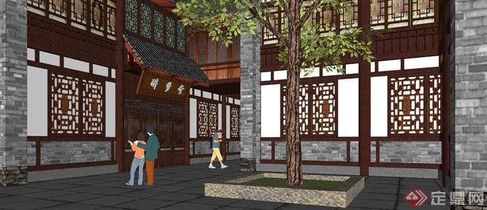 某商业古街建筑规划设计方案su模型7