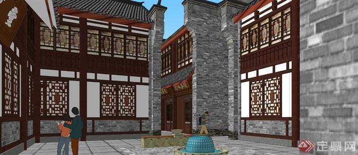 某商业古街建筑规划设计方案su模型8