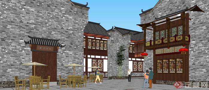某商业古街建筑规划设计方案su模型99