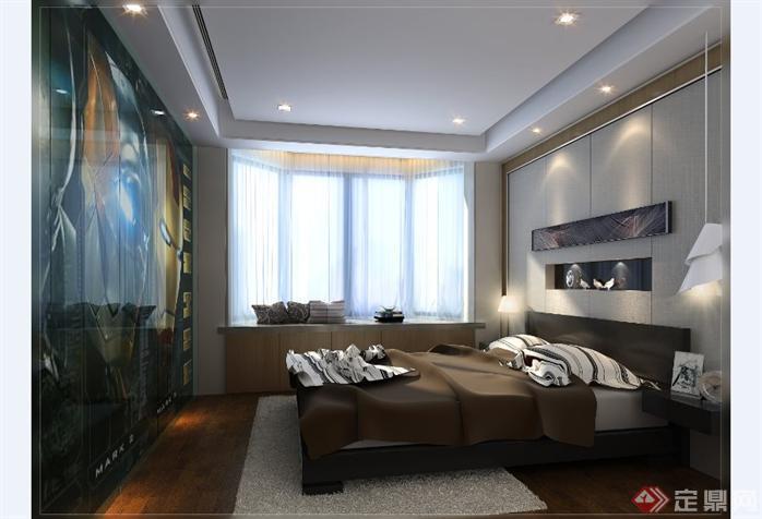 别墅室内设计方案全套CAD施工图(含效果图)4