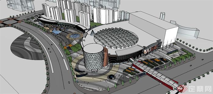某大型商业中心建筑规划设计方案su模型[原创]