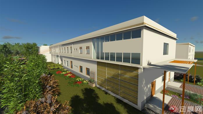 老年公寓建筑設計方案su模型[原創]