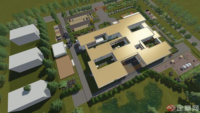 该方案为老年公寓设计,资料包括cad平面图和立面图,su模型,