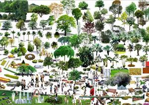 各种Ps后期园林、景观等效果图素材
