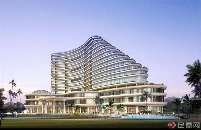 五星酒店效果图和CAD平面图2