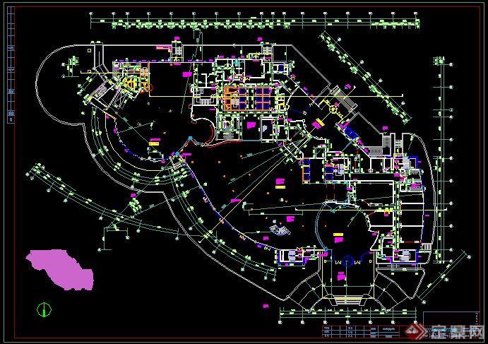 五星酒店效果图和CAD平面图3