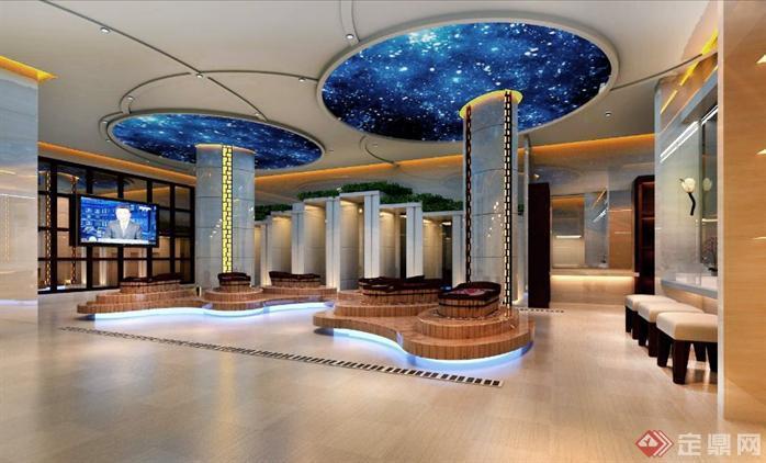 洗浴中心室内装修设计效果图