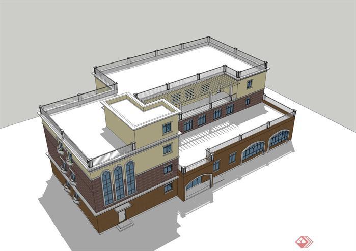 幼儿园建筑设计方案su模型[原创]