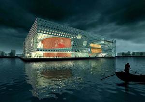 某市文化中心建筑规划设计方案