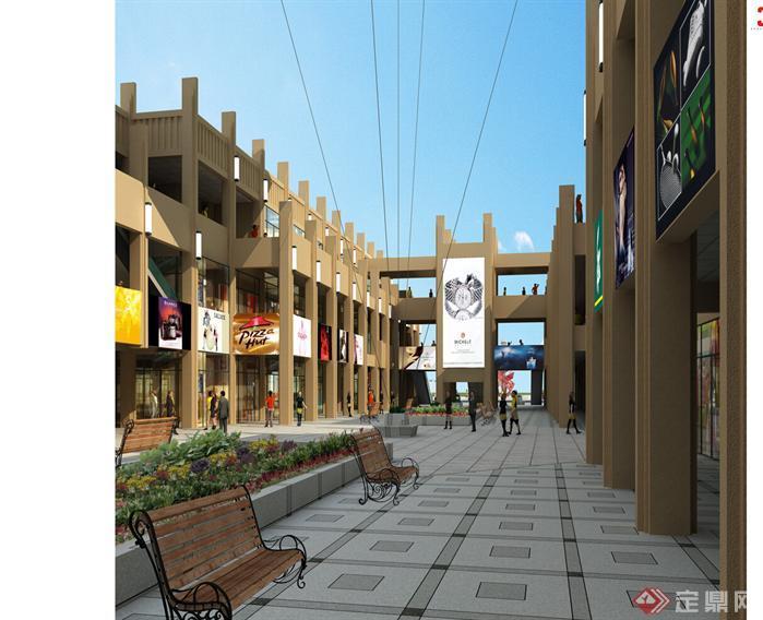 一个商业街建筑设计大号图纸图纸(包括建筑平cad方案全套叉图片