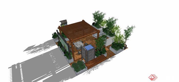 沿街景观岛设计方案效果图[原创]