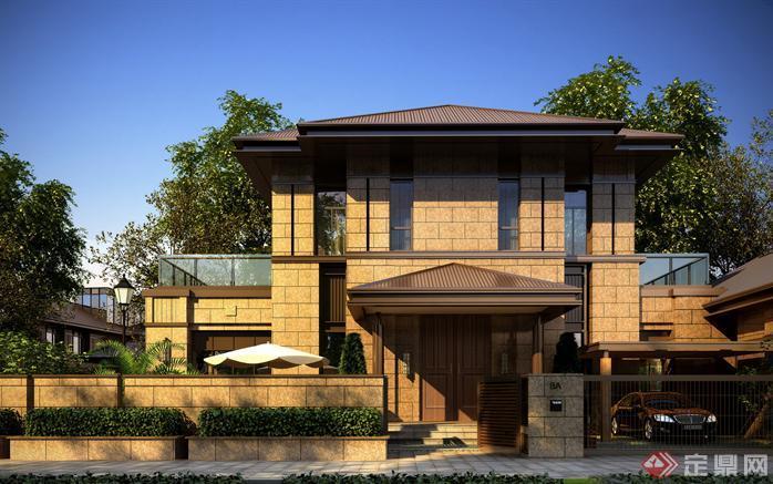 某大型别墅建筑设计效果图