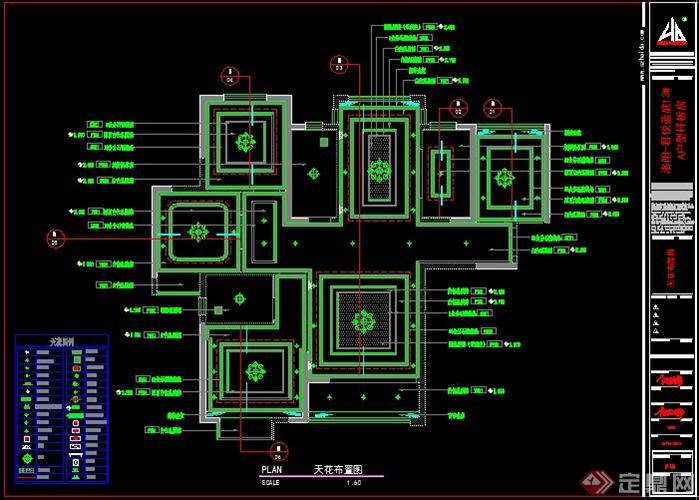 宅室内设计施工图,图纸内容完整详细,是很好的参考资料.高清图片