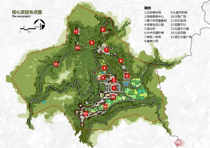 湖北某旅游风景区概念性规划设计文本