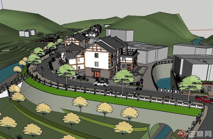 新农村建设项目规划方案su精致设计模型[原创]