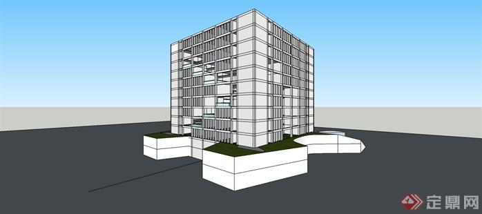 某地一办公楼概念设计方案[原创]