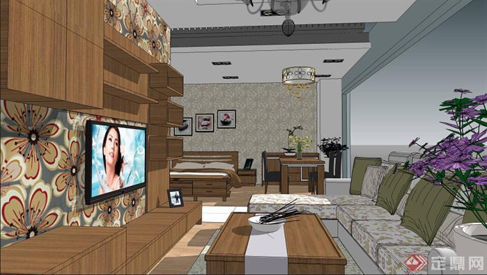 欧博特家具展厅SU精品设计模型(整套CAD图纸+效果图+动画)(3)