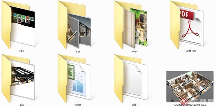 欧博特家具展厅SU精品设计模型(整套CAD图纸+效果图+动画)(6)