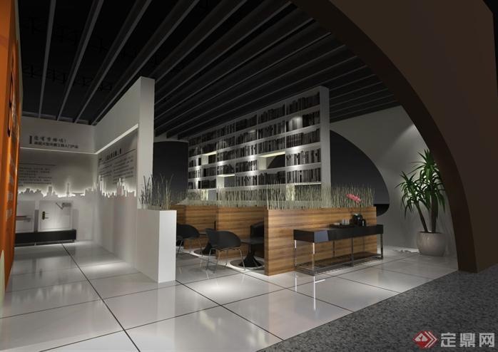 五金展会展厅SU精品设计模型(整套CAD图纸+效果图)(1)