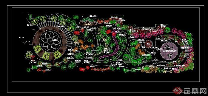 57套公园广场林景观绿化设计cad平面图方案