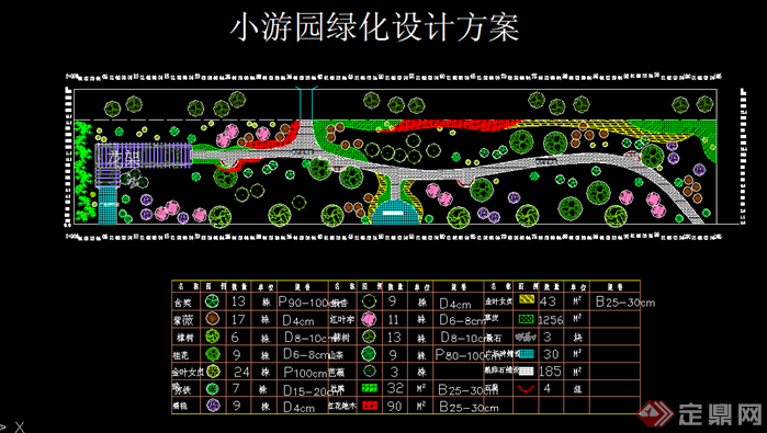 各种小游园园林绿化设计平面图