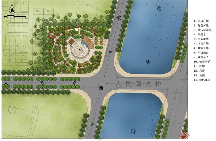 自己设计广场景观规划全套图纸[原创]