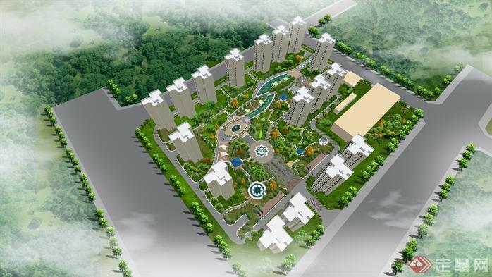 居住小区环境设计方案图[原创]