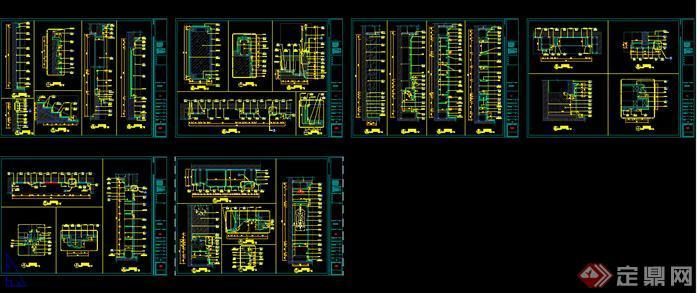 北京两层欧式别墅建筑室内装修设计全套施工图纸