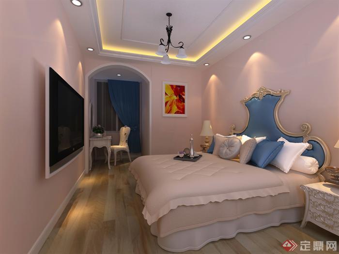 简约欧式室内设计3d效果图