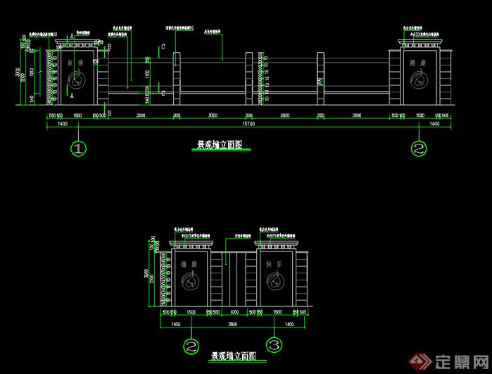 欧式围墙设计方案施工图