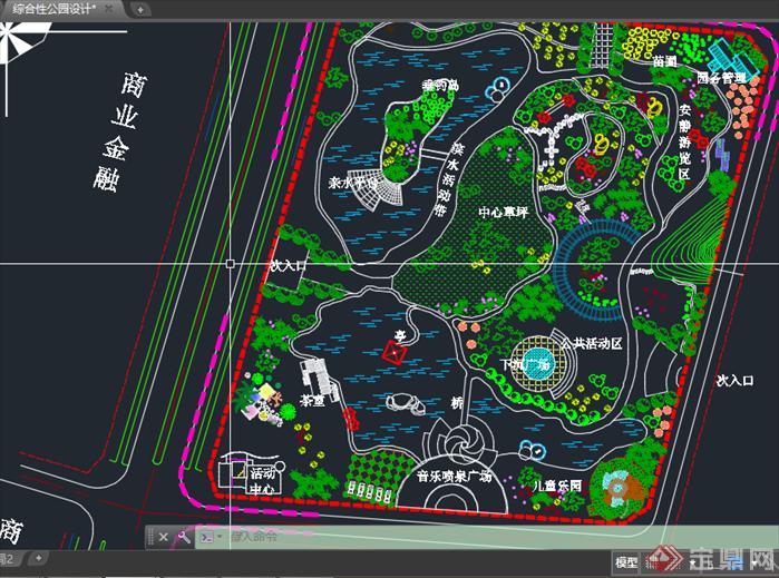 公园景观方案设计cad平面图30套3