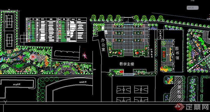 校园广场绿化设计平面图-多个广场设计CAD图纸60套