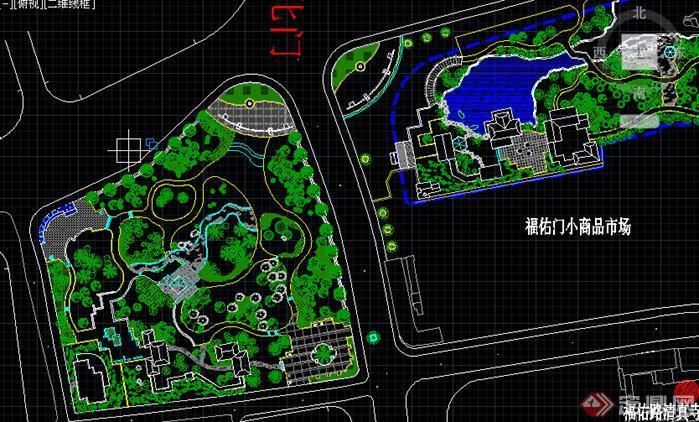 公园园林设计cad图纸60套3