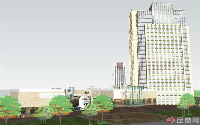 城市购物商业广场建筑方案su精细设计模型[原创]