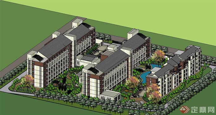 社会福利院公建养老院设计方案总图[原创]图片