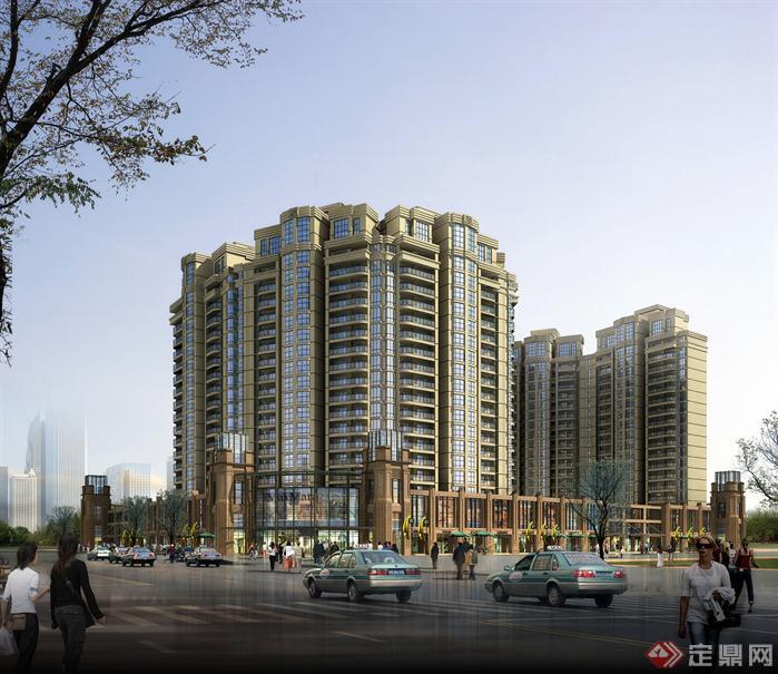 宁波军悦花园住宅高层现代平面效果图 2