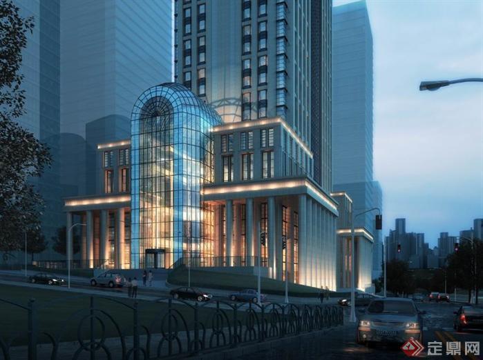重庆某办公建筑设计方案资料[原创]