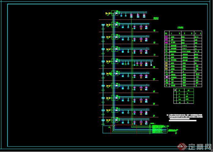某县人民医院内科病房综合楼消防报警系统平面图——约18000平[原创]