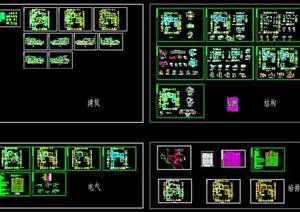 中国古典别墅建筑设计施工图