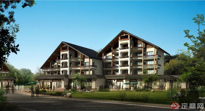 某中式度假酒店建筑设计方案资料(2)