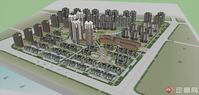 居住小区规划设计图手绘展示
