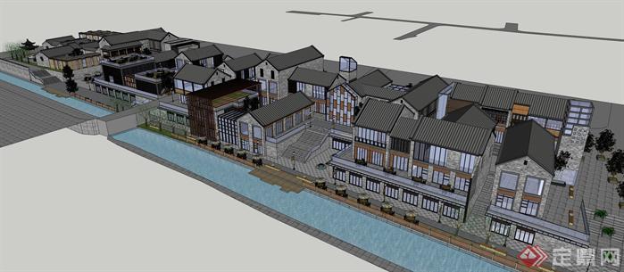 新中式商业街建筑设计