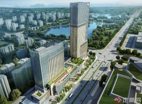 杭州某国际酒店建筑设计方案su模型[原创]