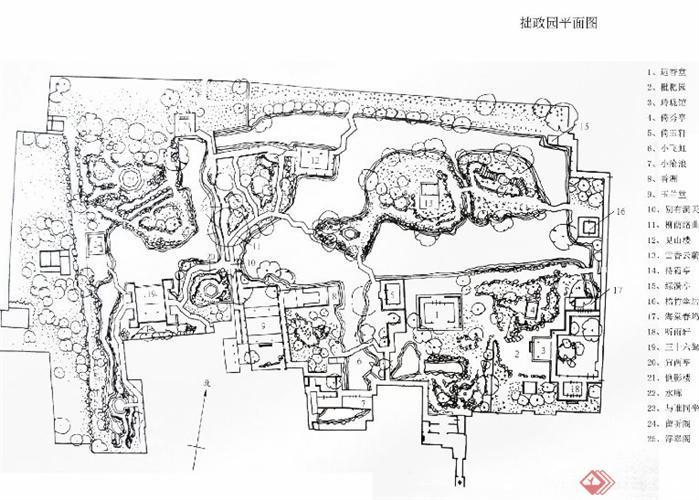 拙政园平面图(1)